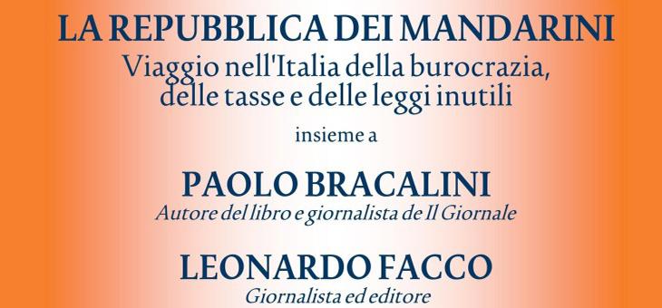 """23 giugno 2014 – Presentazione del libro """"La repubblica dei mandarini"""" di Paolo Bracalini"""