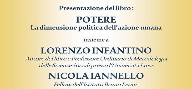 """24 febbraio 2014 – Presentazione del libro """"Potere"""" di Lorenzo Infantino"""