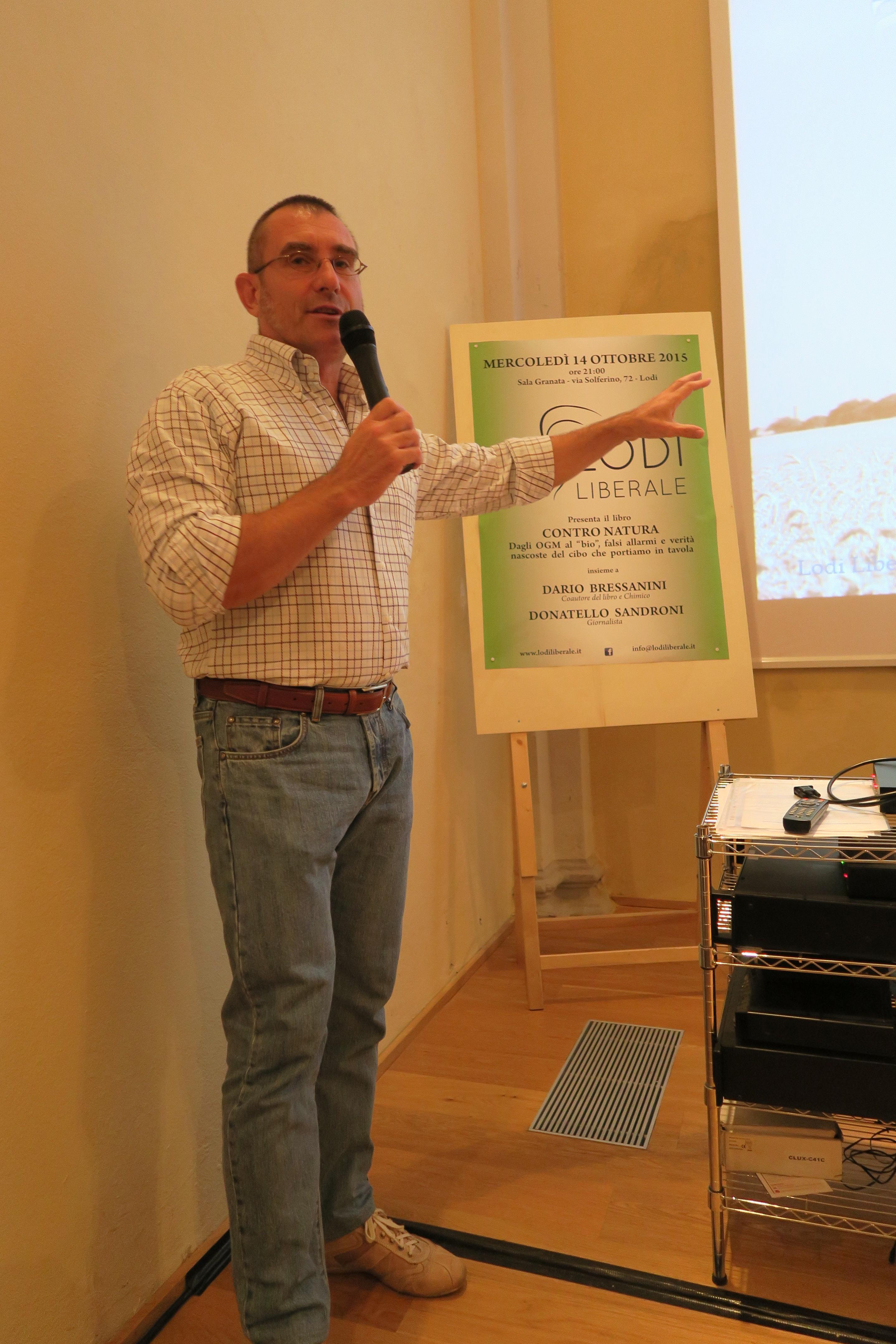 """Associazione Lodi Liberale - Presentazione libro """"Contro natura"""" di Dario Bressanini"""