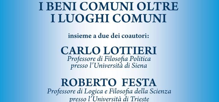 """Giovedì 5 novembre 2015 – Presentazione del libro """"I beni comuni oltre i luoghi comuni"""" edito da Ibl libri"""