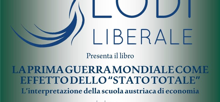 """Lunedì 2 maggio 2016 – """"La prima guerra mondiale come effetto dello Stato totale"""" di Don Beniamino Di Martino"""