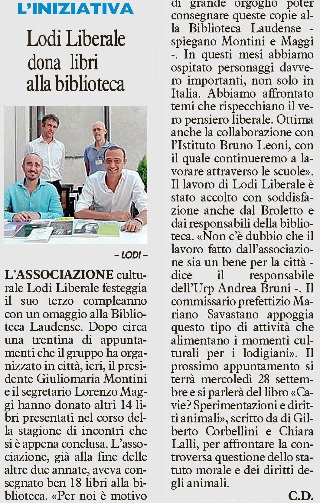 Associazione Lodi Liberale Il Cittadino Donazione libri Biblioteca 2016 Lorenzo Maggi, Giuliomaria Montini-page-001