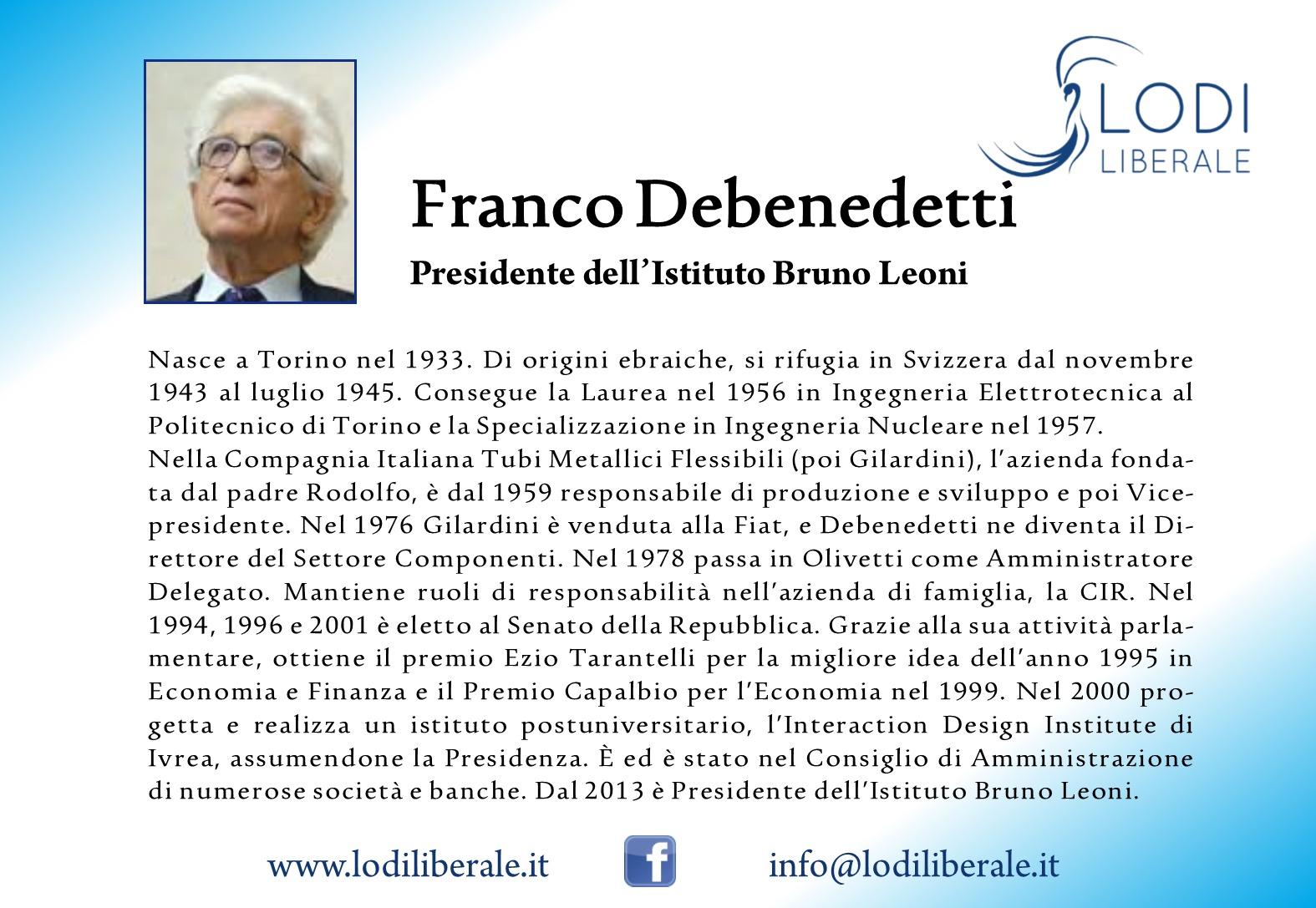 Lodi Liberale Franco Debenedetti