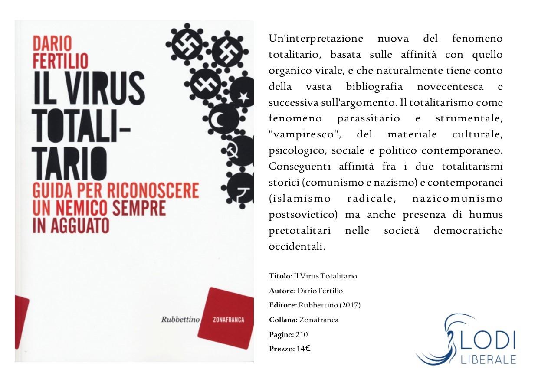 Lodi Liberale Volantino Il virus totalitario Dario Fertilio, Luigi Compagna