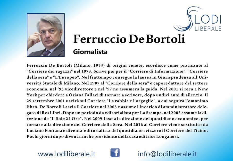 Ferruccio De Bortoli Lodi Liberale