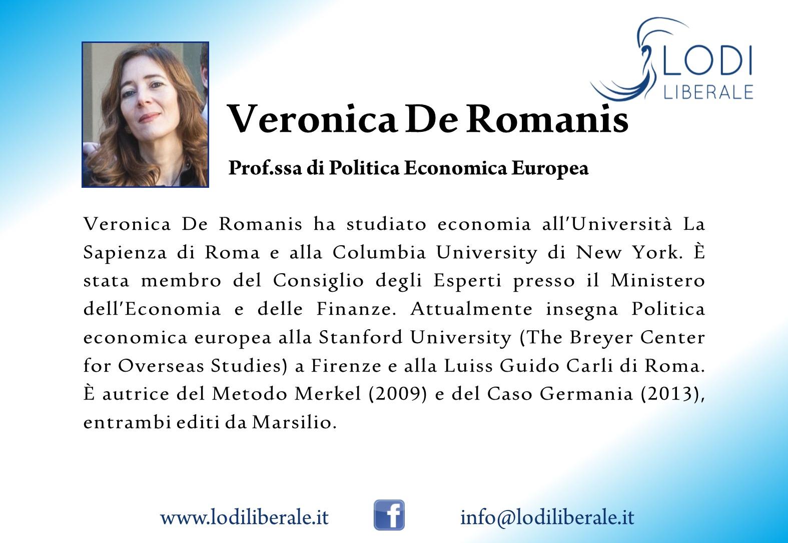 Lodi Liberale Veronica De Romanis