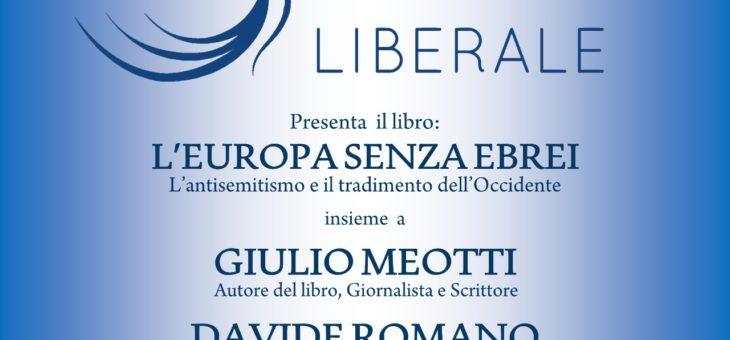 """Lunedì 22 giugno presentazione del libro """"L'Europa senza ebrei"""""""