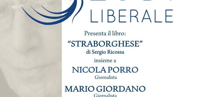 """Mercoledì 3 marzo 2021 presentazione del libro """"Straborghese"""""""