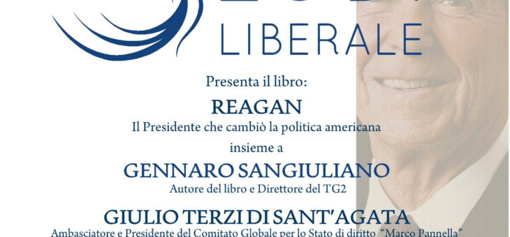"""Lunedì 31 maggio presentazione del libro """"Reagan"""""""
