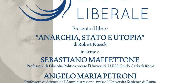 """Lunedì 20 settembre 2021 presentazione del libro """"Anarchia stato e utopia"""""""